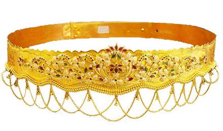 Indian Gold Waist Belt for Women