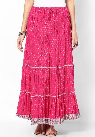 JaipurPink Long Skirt