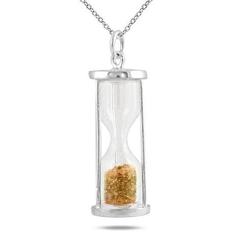 January birthstone pendant