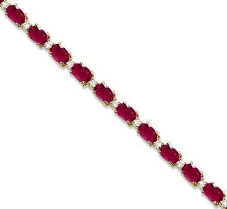 July birthstone tennis bracelet