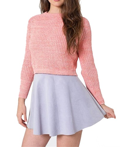 Knitted Winter Crop Top