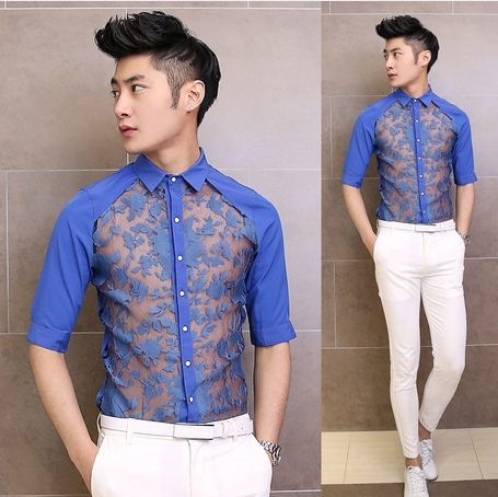 Lace Chiffon Tunics for Men