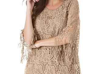Lace Fringe Tunic for Women