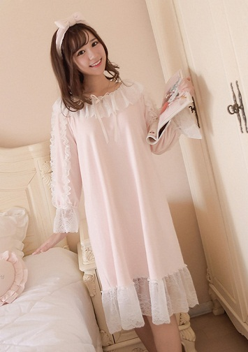 Lace Winter Nighty