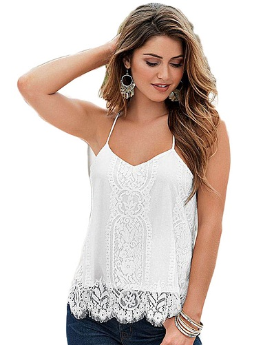 Laced Vest Strap Top