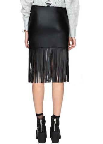 Latest Fringes Style Straight Skirts