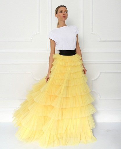 Layered designer skirt