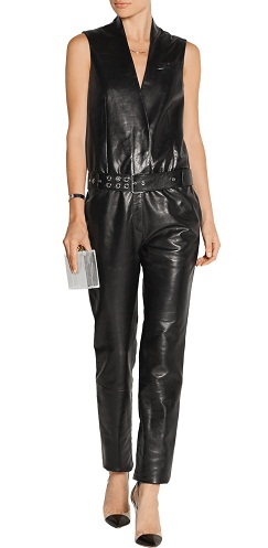 Leather Belted Jumpsuit
