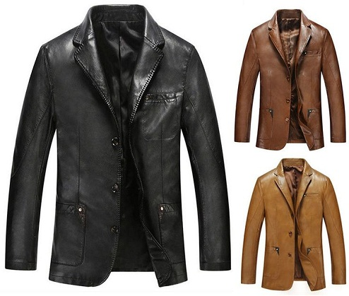 Leather Style Party Wear Blazer