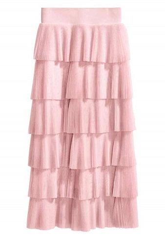 Light Pink Tiered Skirt
