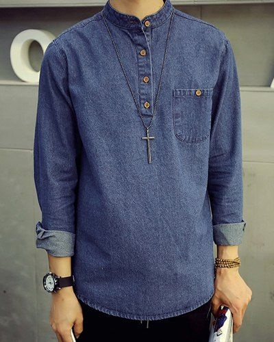 Long Denim Tunic for Men