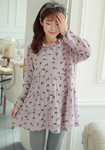 Long Sleeve Pregnancy Nighty