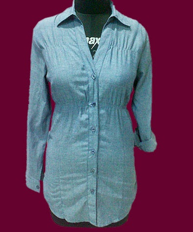Long Straight Casual Shirt Top