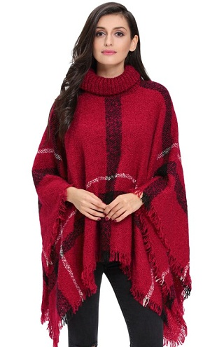 Long Tunic Rolled Collar Winter Top