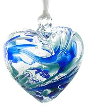 March Birthstone Heart