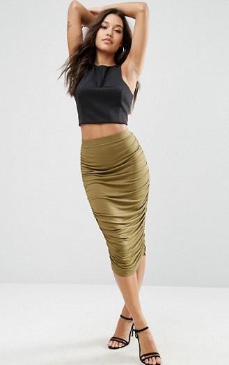 Maxi style tube skirt