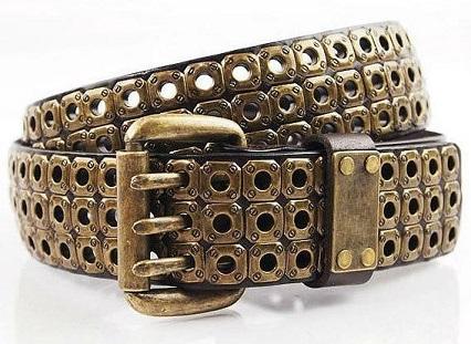 Men's Cowboy Gold Belt Design