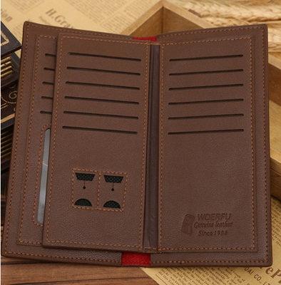 Men's Leather Long Wallet