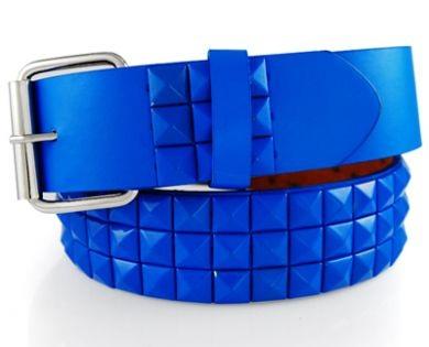 Metal Pyramid Blue Belt