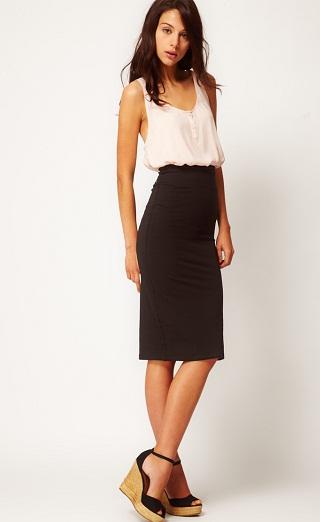 Midi style Tube skirts