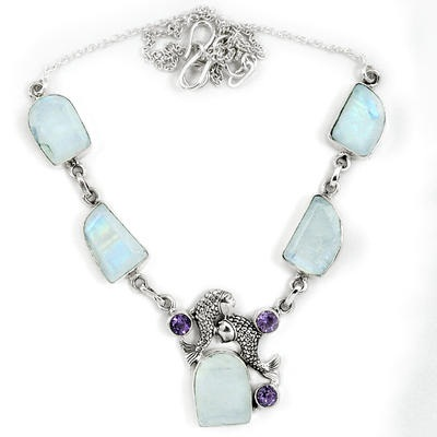 Moonstone June birthstone necklace