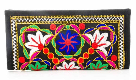 Multicolored Ethnic Style Wallet