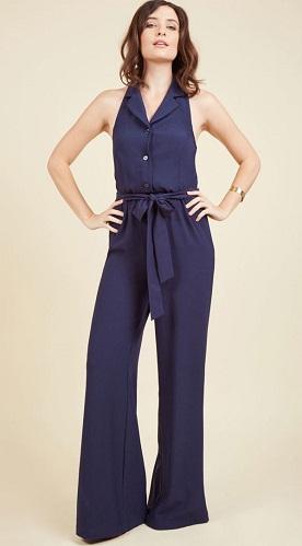 Navy Blue Jumpsuit Women's