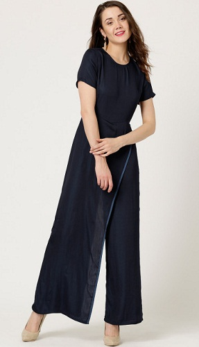 Navy Layered Jumpsuit