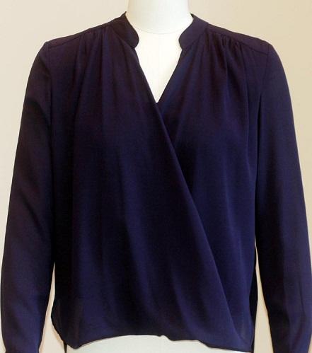 Navy blue Crossover shirt