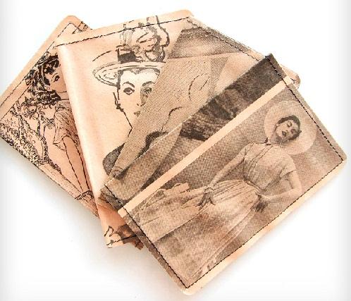 Newspaper Print Funky Wallet