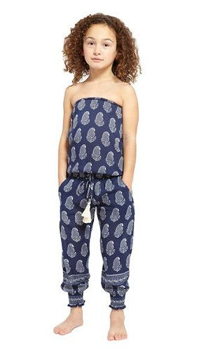 Off Shoulder Kids Jumpsuit