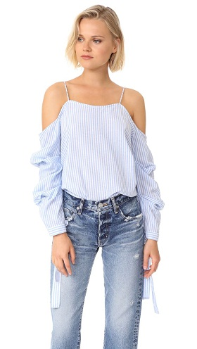 Off-shoulder Strap Top