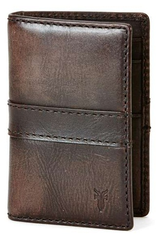 Olive Leather Long Wallet