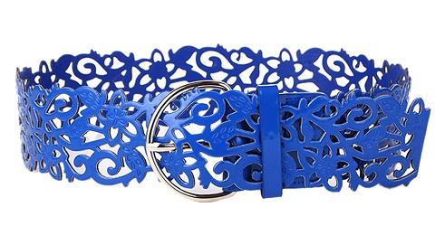 Open Work Blue Belt