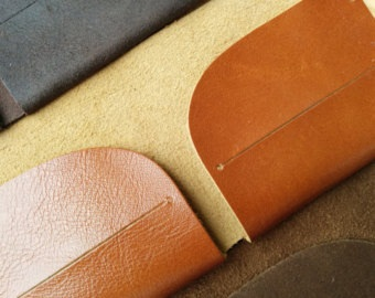 Orange Brown Minimalist Vintage Wallet for Men