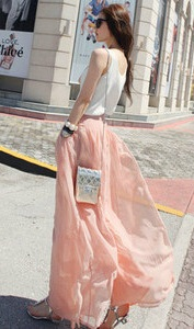 Pale Pink Pants Skirt