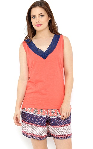 Pant Style Sleeveless Nighty