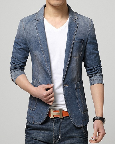 Party Wear Denim Blazer