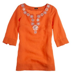Party Wear Linen Tunics for Girls