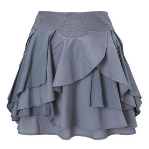Party wear layered skirt