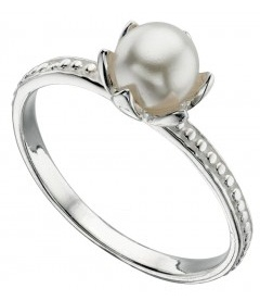 Pearl June birthstone ring