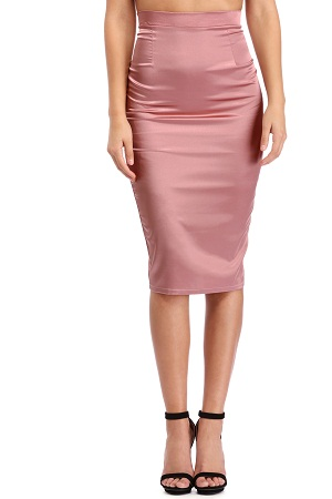 Pencil style Satin skirt