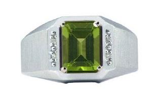 Peridot Ring for Men
