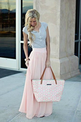 Pink Long Summer Skirts