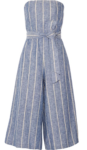 Pinstriped Cotton Jumpsuit