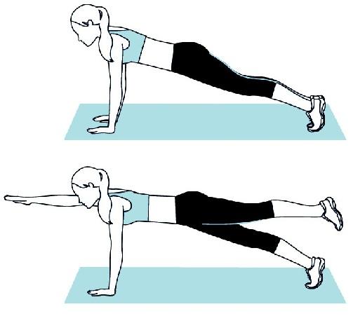 Plank super man pose