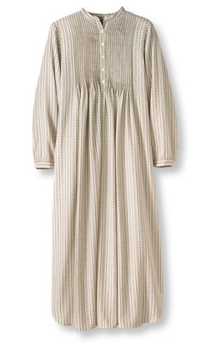 Pleated Bodice Winter Nightdress