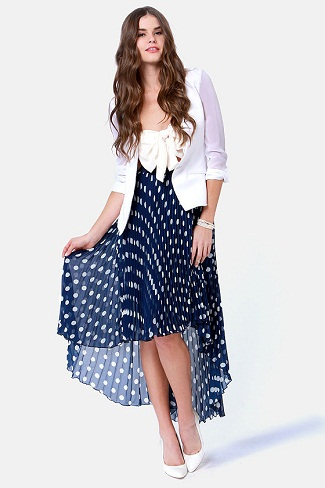 polka dot skirts