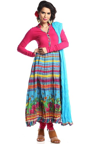 Pleated churidar Kurti