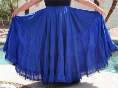 Plus Size Blue Gypsy Skirt